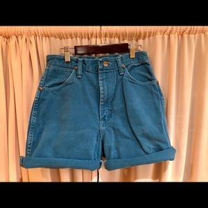 Blue Wrangler Denim Cut-Off Shorts
